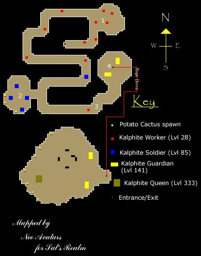 Kalphite Dungeon map