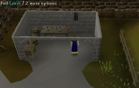 Pull the ardougne lever to be teleported to the wilderness