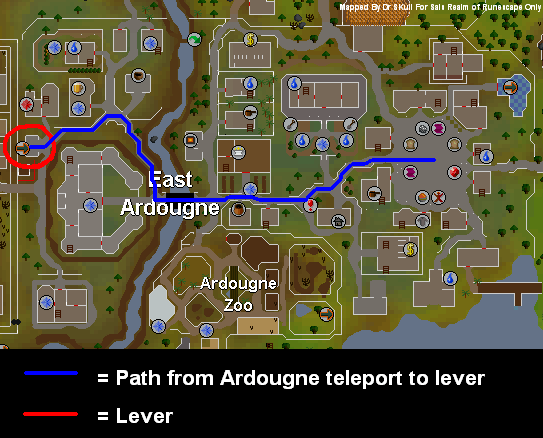 Route to the ardougne lever