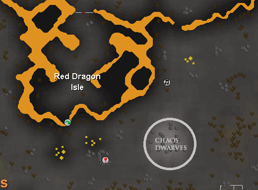 Location of the chaos dwarves south of red dragon isle