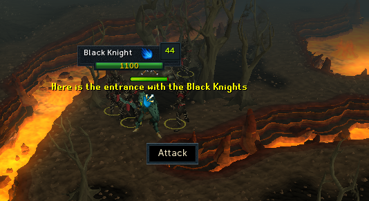 Black knights fortress entrance