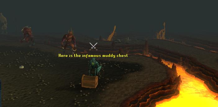 A lesser demon guards the chest!