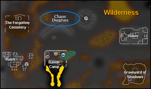 Map of more chaos dwarves at the ridge