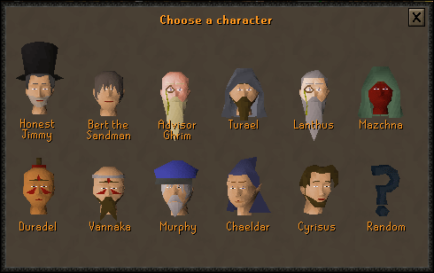 Choose a character