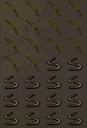 Inventory: Yew long bows (u), bowstrings