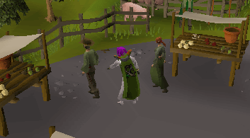 Pickpocketing a master farmer