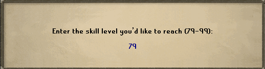 Enter the skill level you'd like to reach