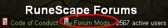 Forum mods