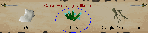 What would you like to spin [flax]