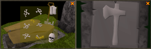 Woodcutting gravestone