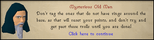 Mysterious Old Man: Don't tag the ones that do not have rings around the base, as that will reset your points...