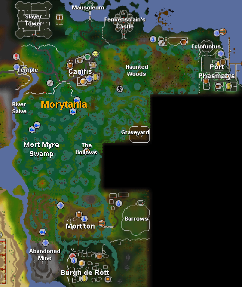 Map of Morytania