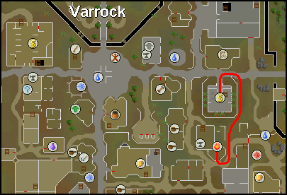Location of Aubury's magic shop in varrock