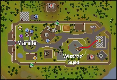 Location of the Yanille magic shop