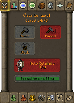Special Attack interface (Granite Maul)