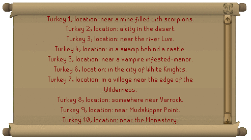 Turkey locations