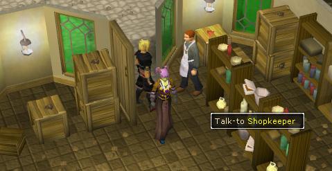 Talk to Shopkeeper