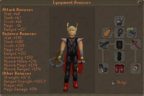 Tormented Demon Hunting - Pro armour (steel titan) equipment