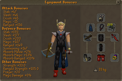 Tormented Demon Hunting - Pro Armour (unicorn) equipment