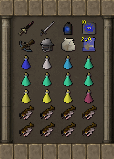 Tormented Demon Hunting - Void Armour inventory