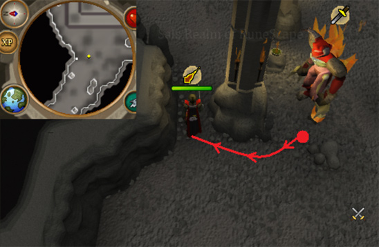 Tormented Demon Hunting - Luring spot 1