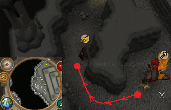 Tormented Demon Hunting - Luring spot 2