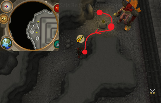 Tormented Demon Hunting - Luring spot 3