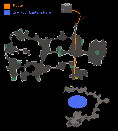 Tormented Demon Hunting - Map of route to Tormented Demons in the Ancient Guthix Temple