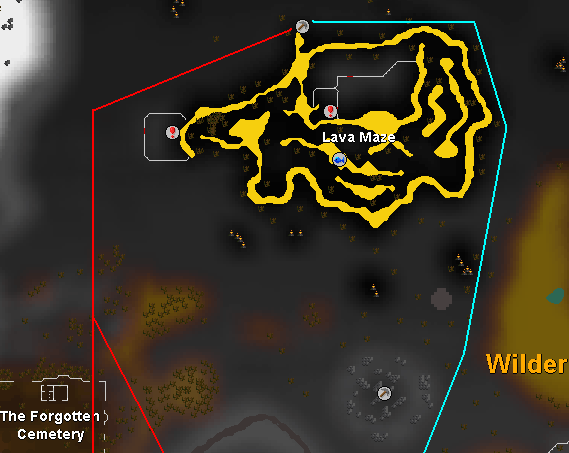 Route to/from the rune rocks
