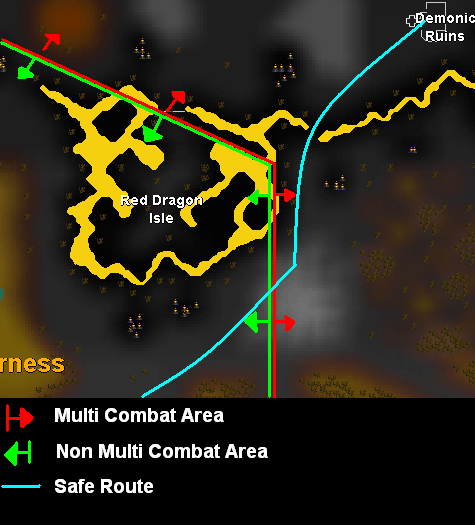 Greater demon route map