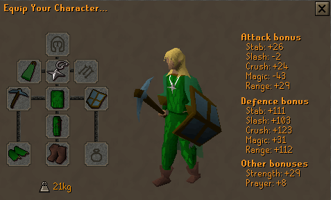 Recommended equipment for wilderness rune mining