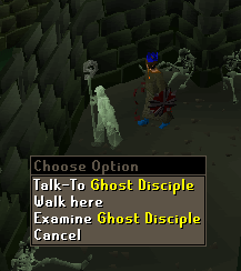 Talk to Ghost Disciple